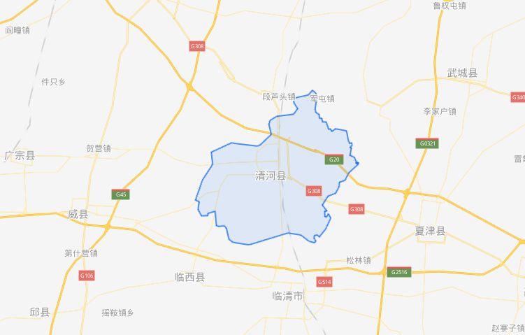 清河县区位示意图