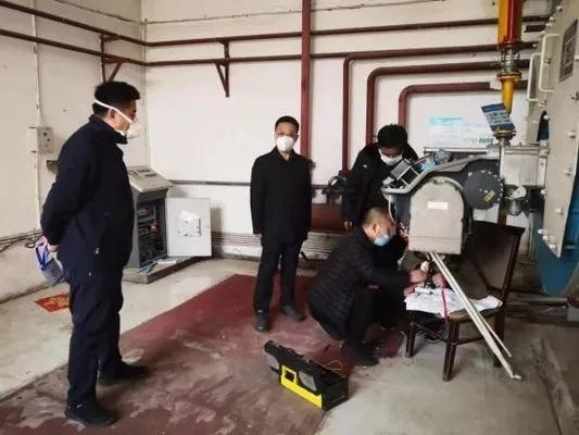 隔离点锅炉房维修现场