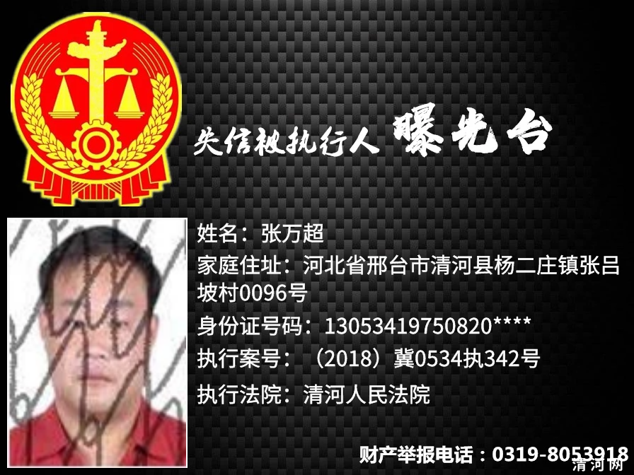 法网难容!!清河法院:二零二零年失信被执行人曝光台《第二期》!