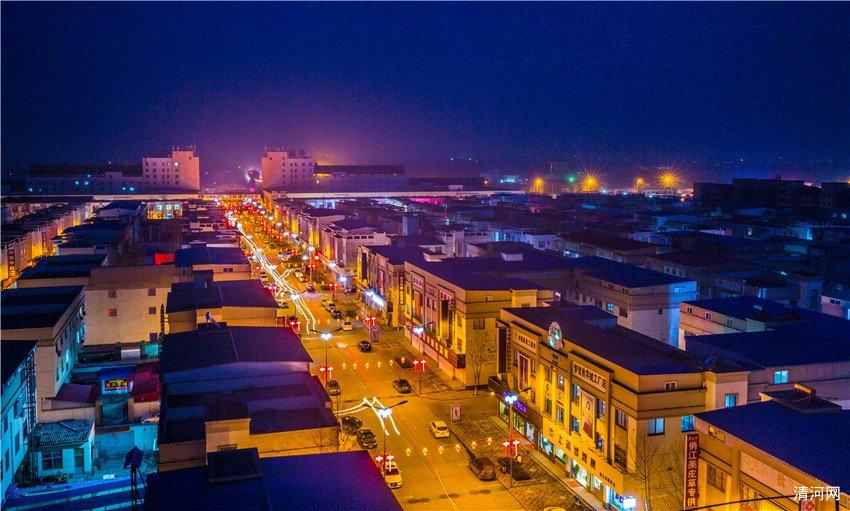 清河县羊绒小镇夜景