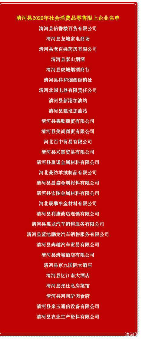清河县29家商贸企业联合发声