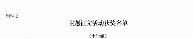 清河县学生作文获奖