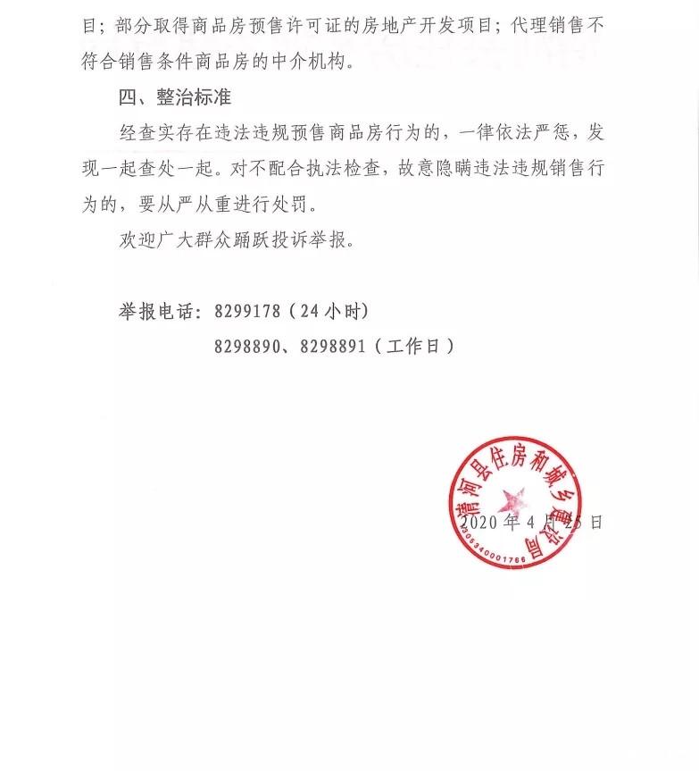 清河县住房和城乡建设局关于开展商品房违规预售集中整治专项行动的通告